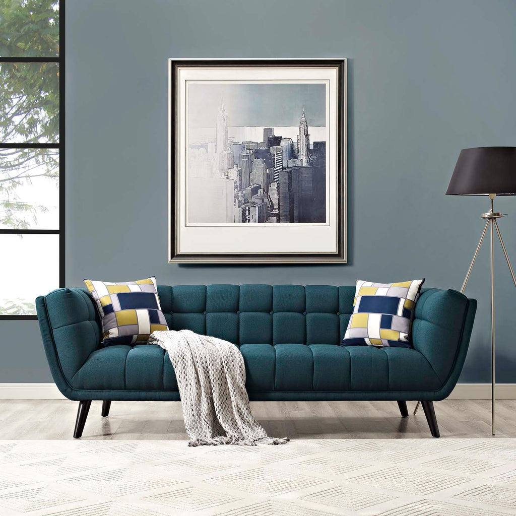 Bestow Upholstered Fabric Sofa - Blue