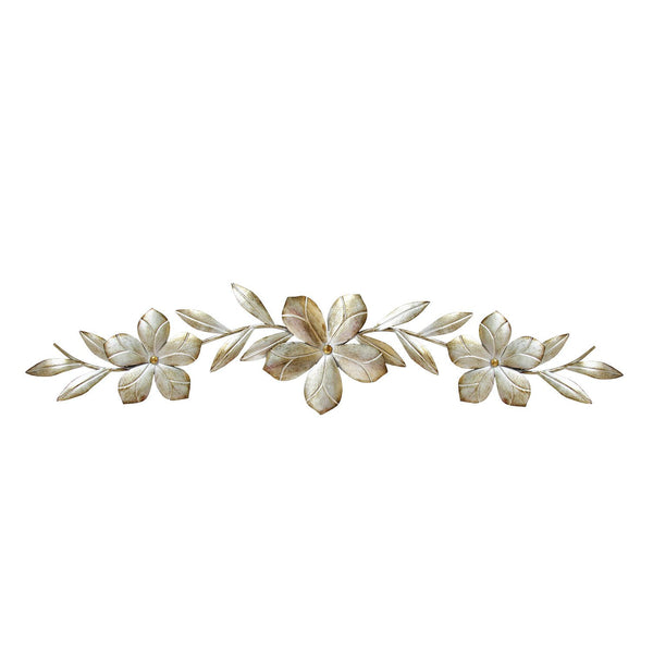 Flower Over The Door Wall Decor, 38.00 W x 0.75 D x 8.00 H, Champagne