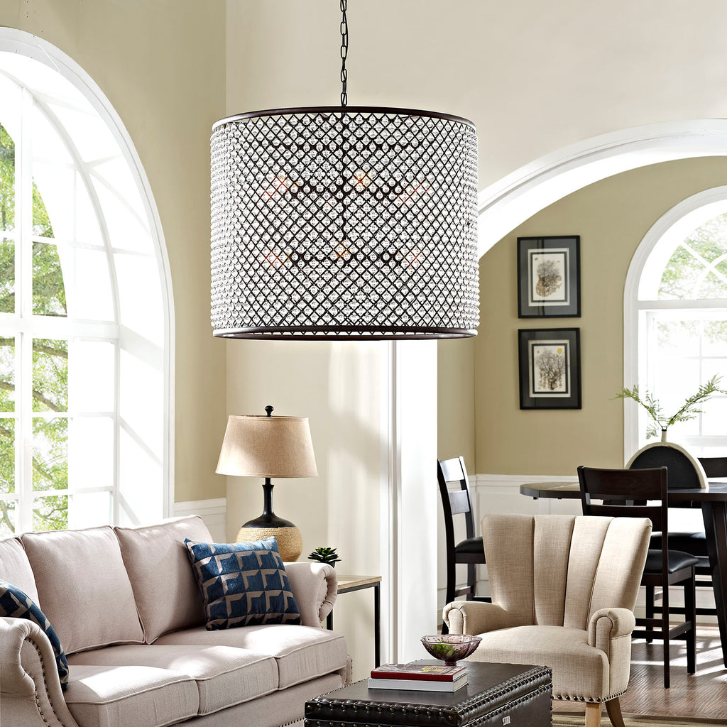Prosperity Chandelier - Brown