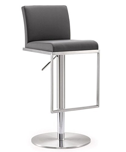 Amalfi Grey Stainless Steel Barstool