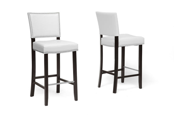 Bar Stool 2-Piece Set, White
