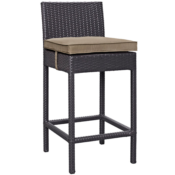 Lift Bar Stool Outdoor Patio Set of 2 - Espresso Mocha