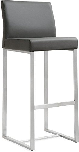Denmark Grey Steel Barstool Set of 2