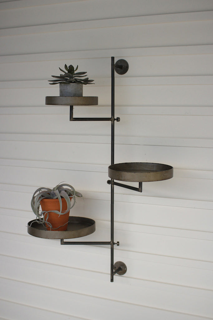 Rotating Wall Bracket with Three Round Shelves