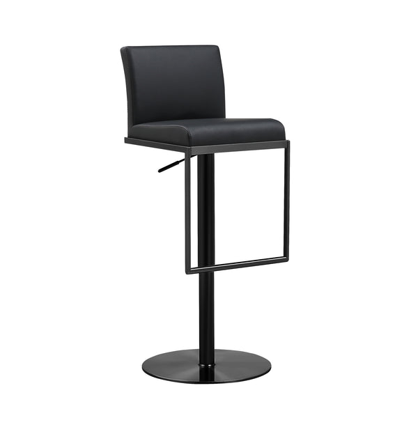Amalfi Black on Black Steel Barstool