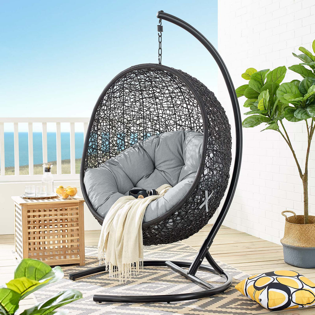 Encase Swing Outdoor Patio Lounge Chair - Gray