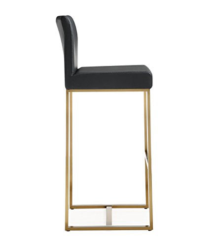 Denmark Black Gold Steel Barstool (Set of 2)
