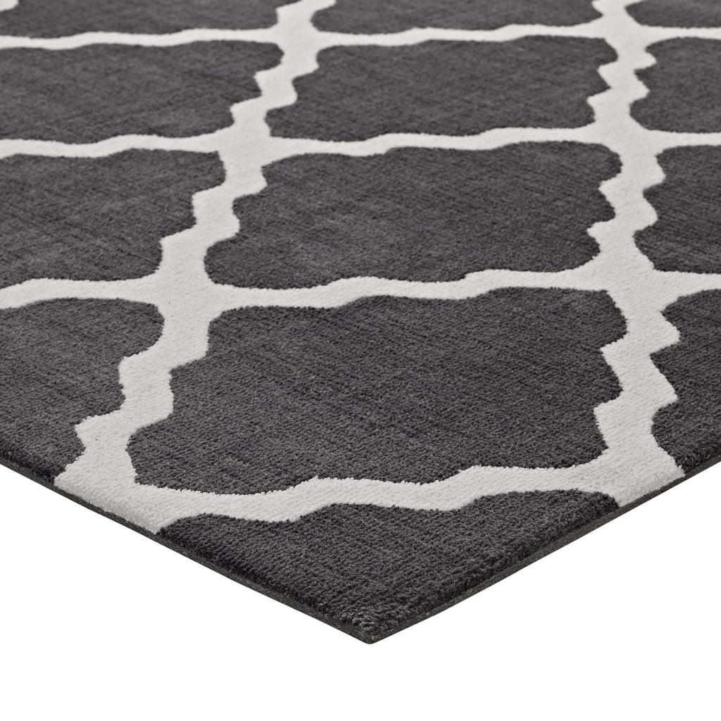 Marja Moroccan Trellis 8x10 Area Rug - Charcoal and Ivory