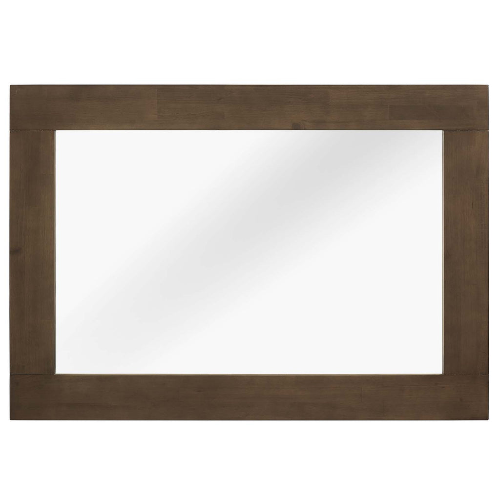 Everly Wood Frame Mirror - Walnut