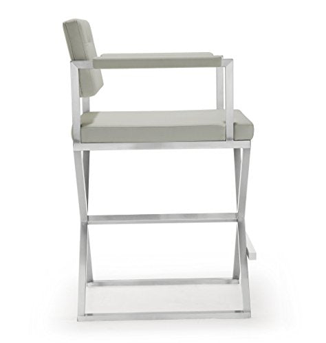 Director Light Grey Steel Counter Stool