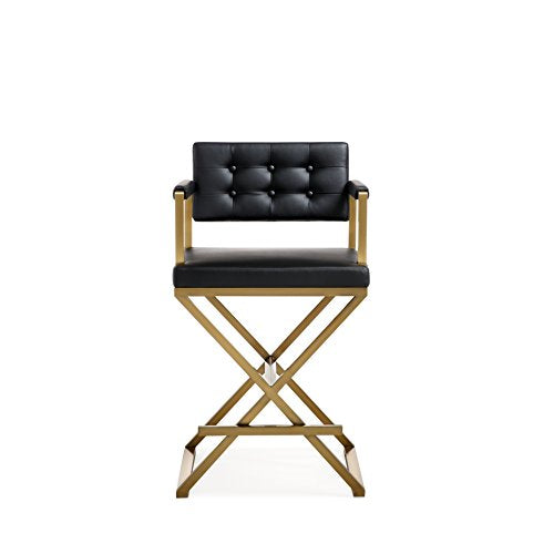 Director Black Gold Steel Counter Stool
