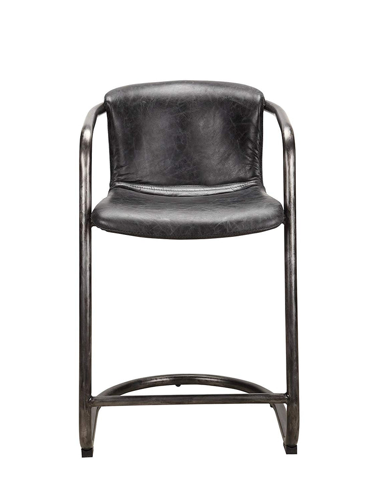 Freeman Counter Stool, Antique Black (Set of Two)