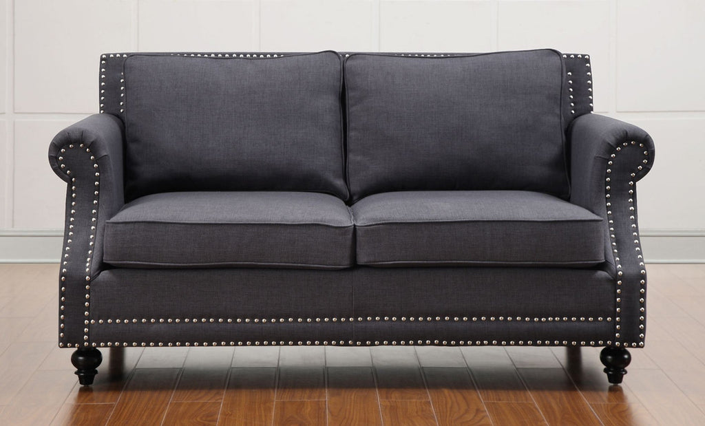 Camden Grey Linen Loveseat