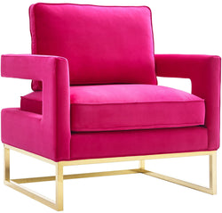 Avery Pink Velvet Accent Chair