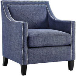 Asheville Blue Linen Accent Chair