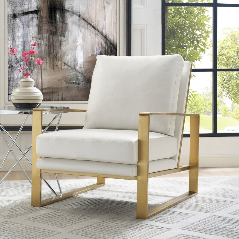 Mott Textured Accent Chair in Pearl