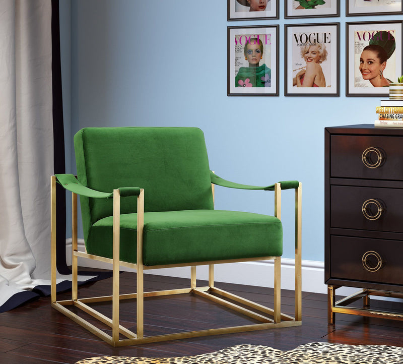 Baxter Green Velvet Accent Chair