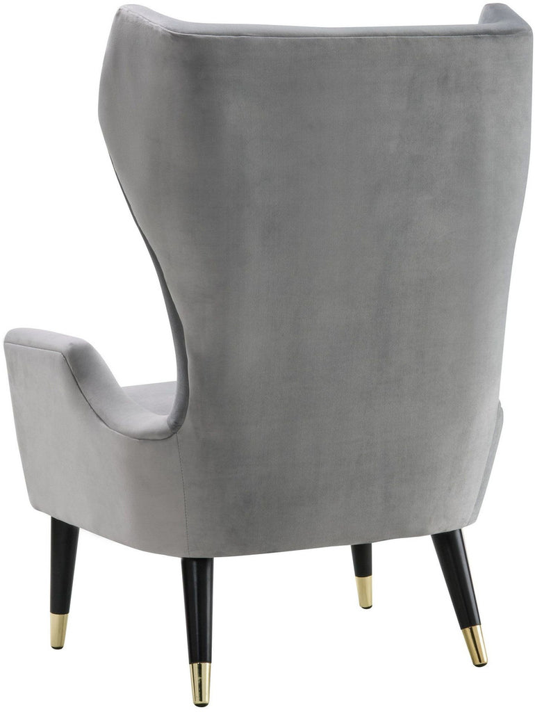 Logan Grey Velvet Accent Chair