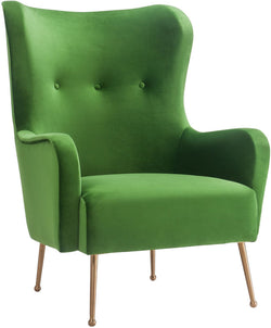 Ethan Green Velvet Accent Chair