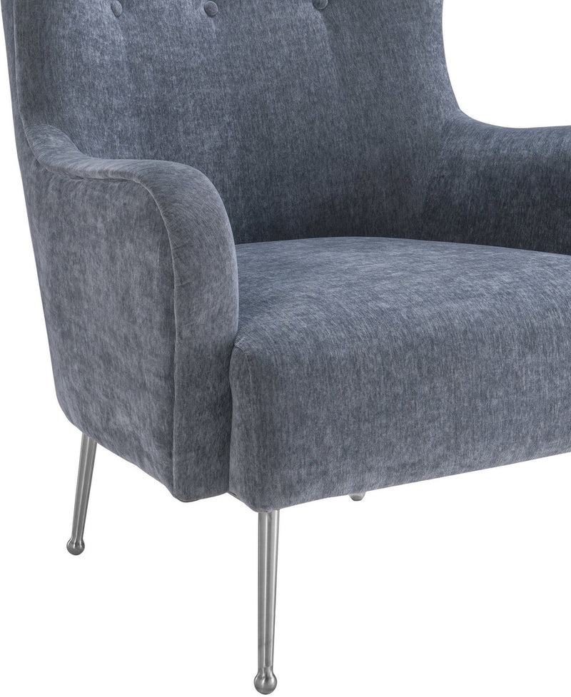 Ethan Grey Velvet Accent Chair