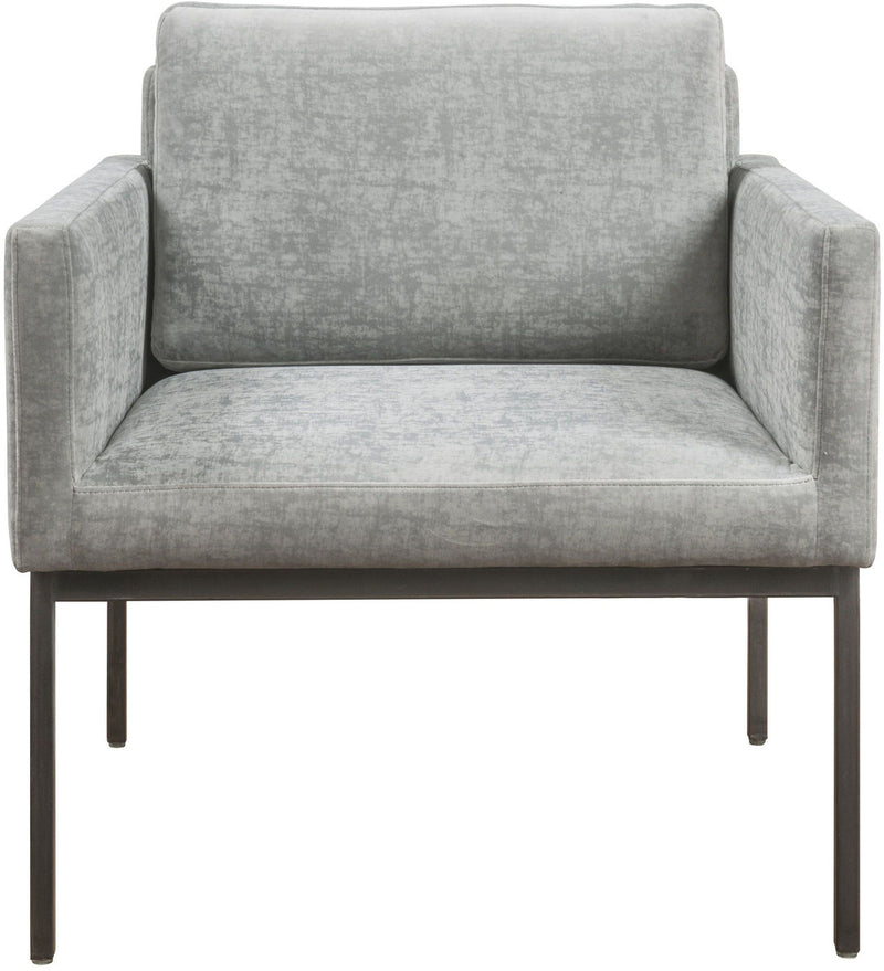 Canton Grey Velvet Accent Chair