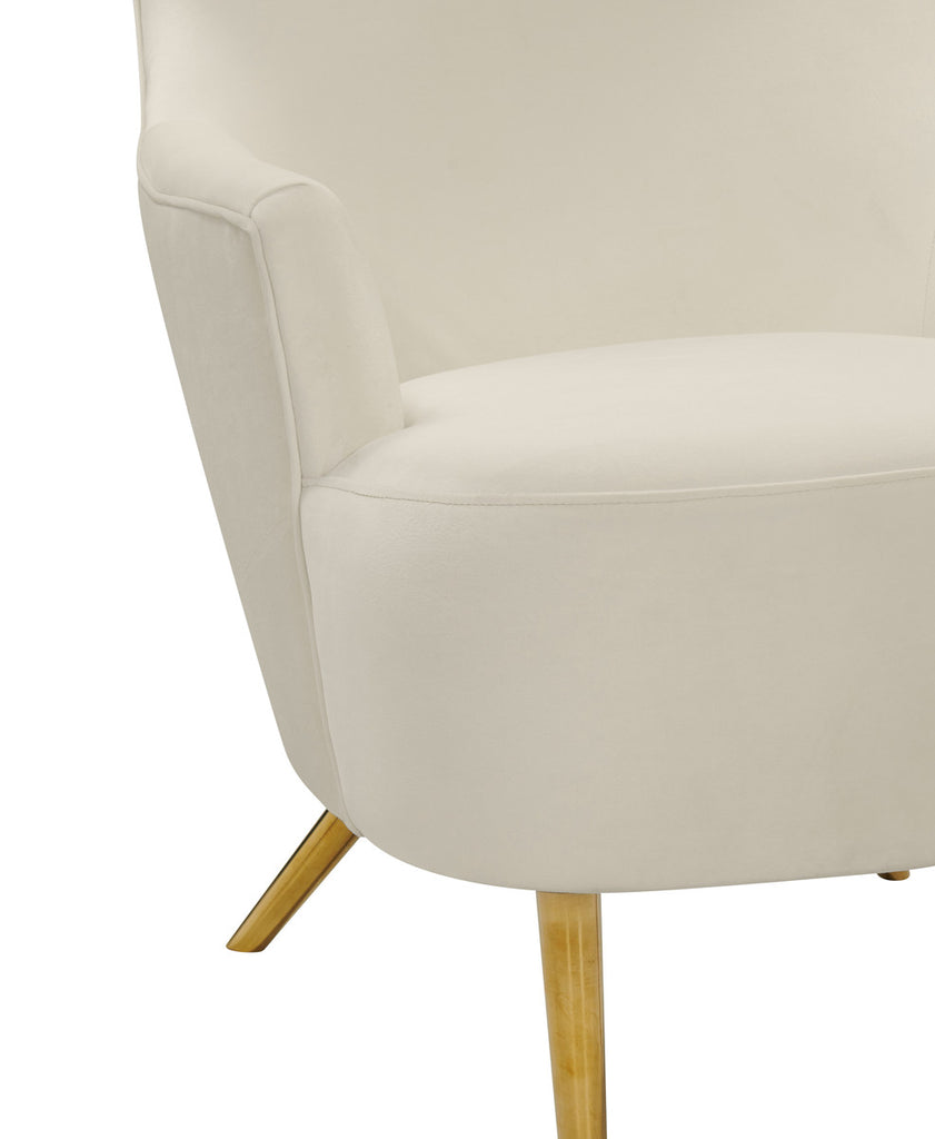 Julia Cream Wingback Accent Chair