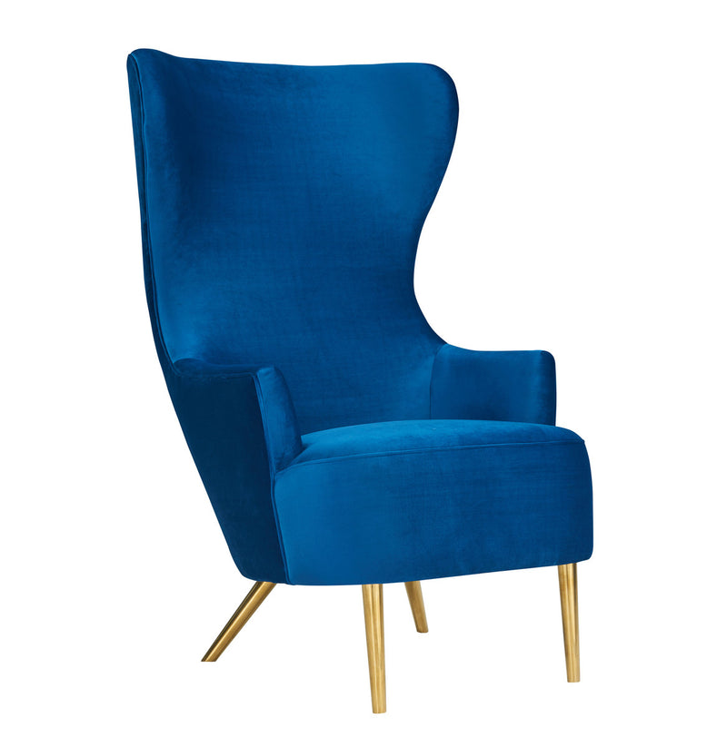 Julia Navy Wingback Accent Chair