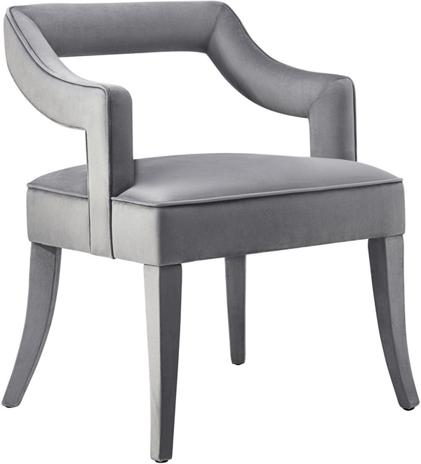 Tiffany Grey Velvet Dining Chair