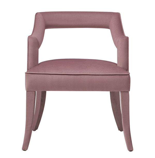 Tiffany Pink Slub Velvet Dining Chair