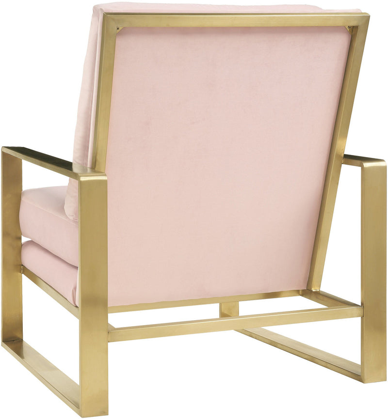 Mott Blush Velvet Accent Chair