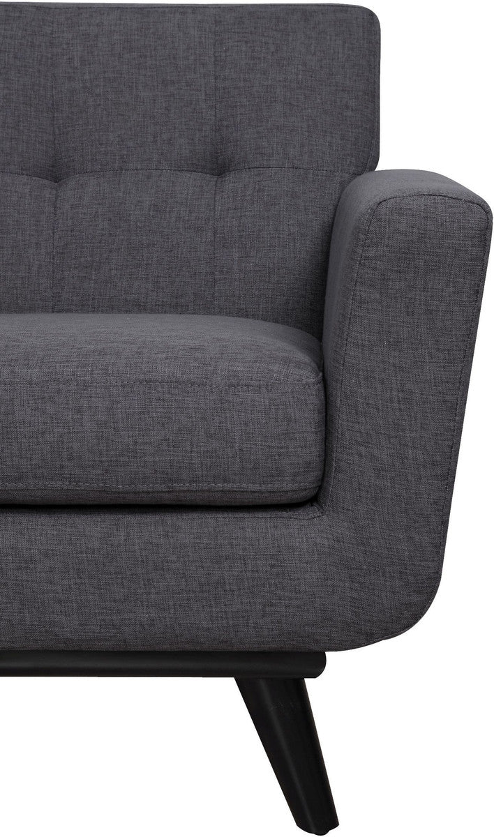 James Grey Linen Accent Chair