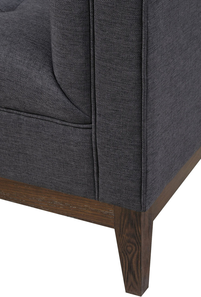Gavin Grey Linen Accent Chair