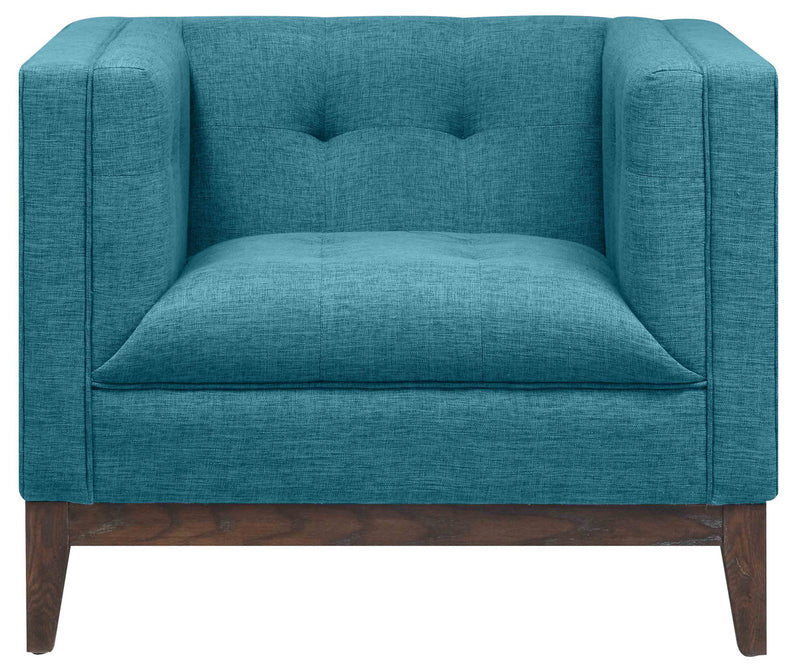 Gavin Blue Linen Accent Chair