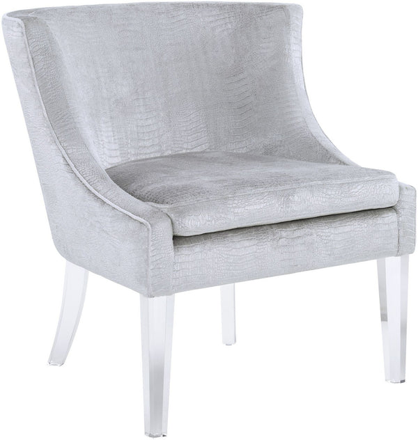 Myra Silver Croc Accent Chair