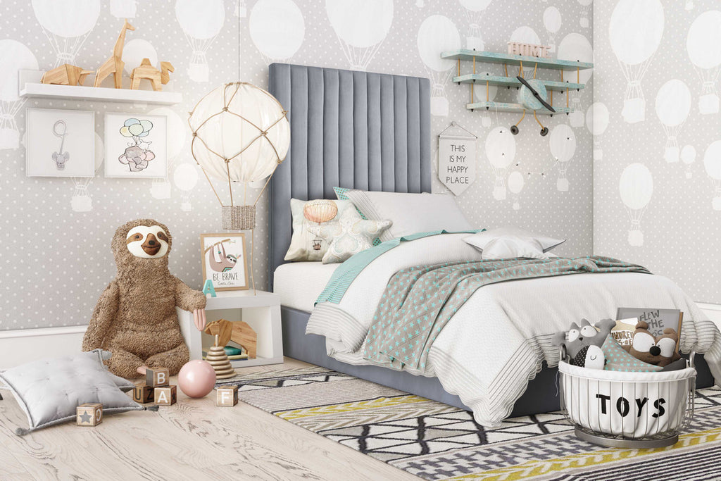 Arabelle Grey Bed in Twin