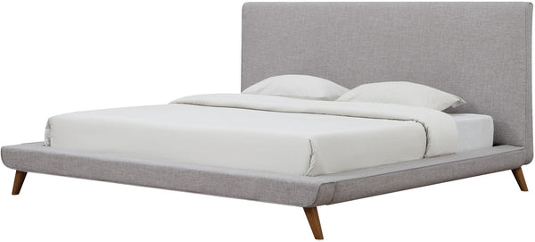 Nixon Beige Linen Bed in Queen