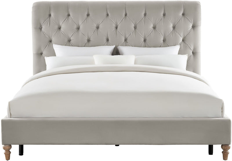 Putnam Grey Velvet Queen Bed