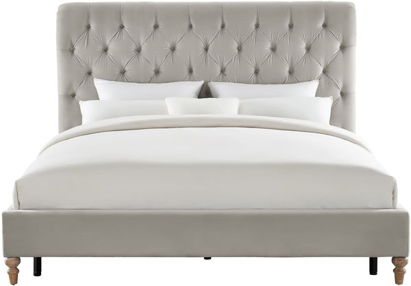 Putnam Grey Velvet King Bed