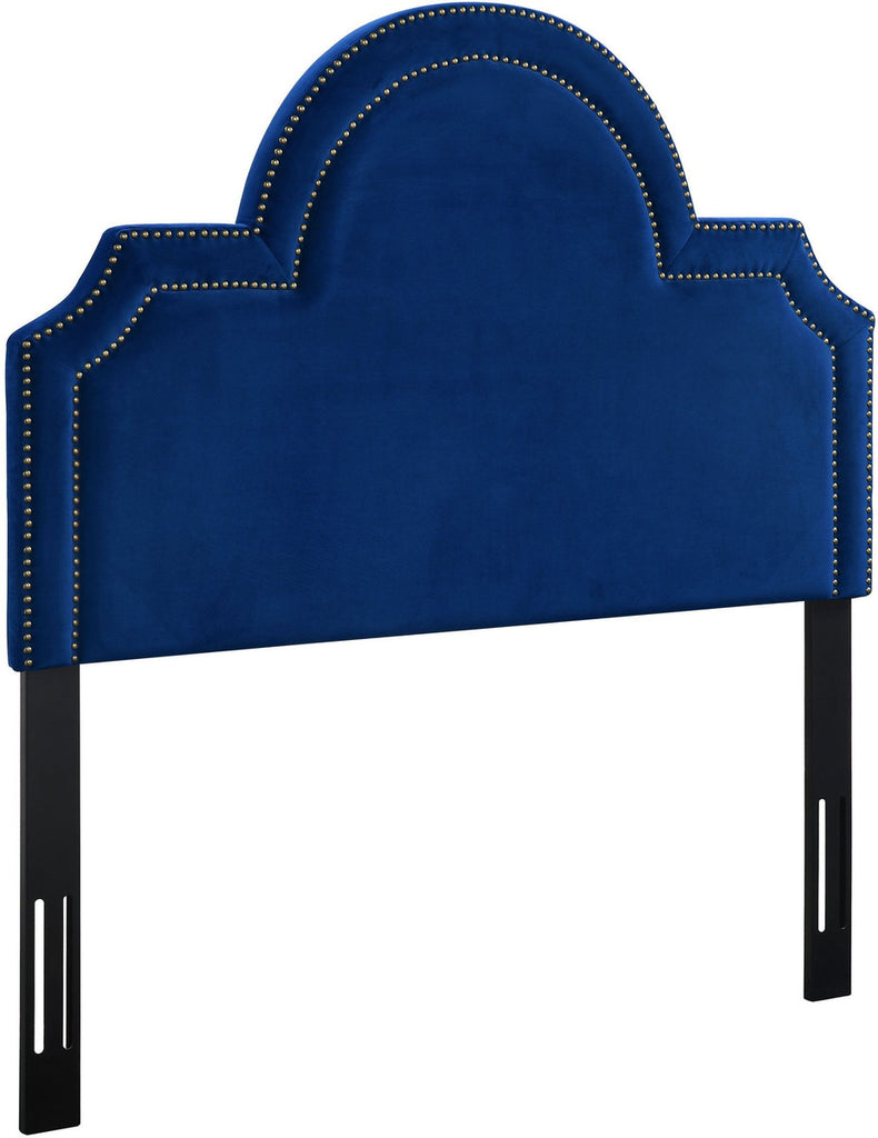 Laylah Twin Headboard in Navy Velvet
