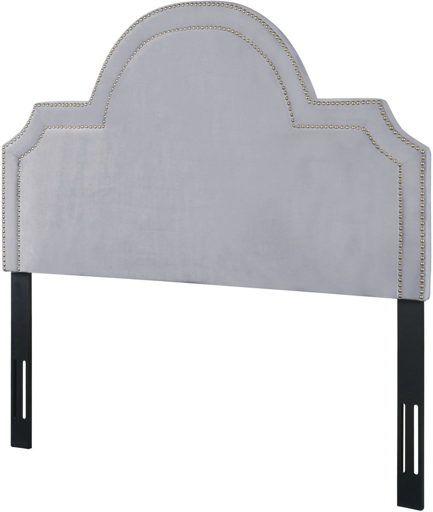 Laylah King Headboard in Grey Velvet