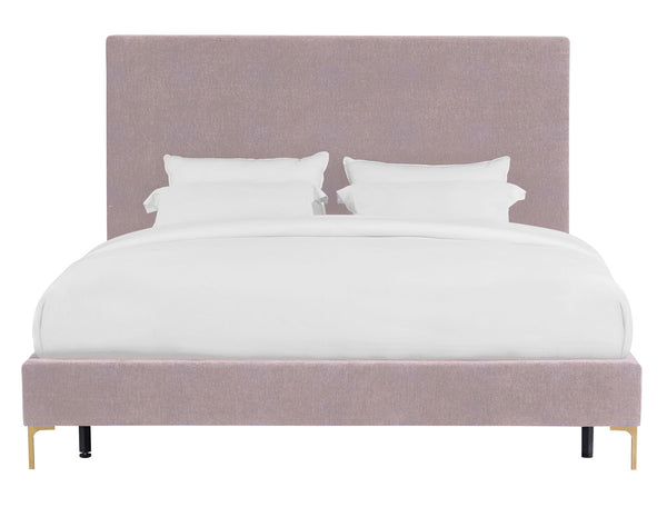Delilah Blush Textured Velvet Bed in King