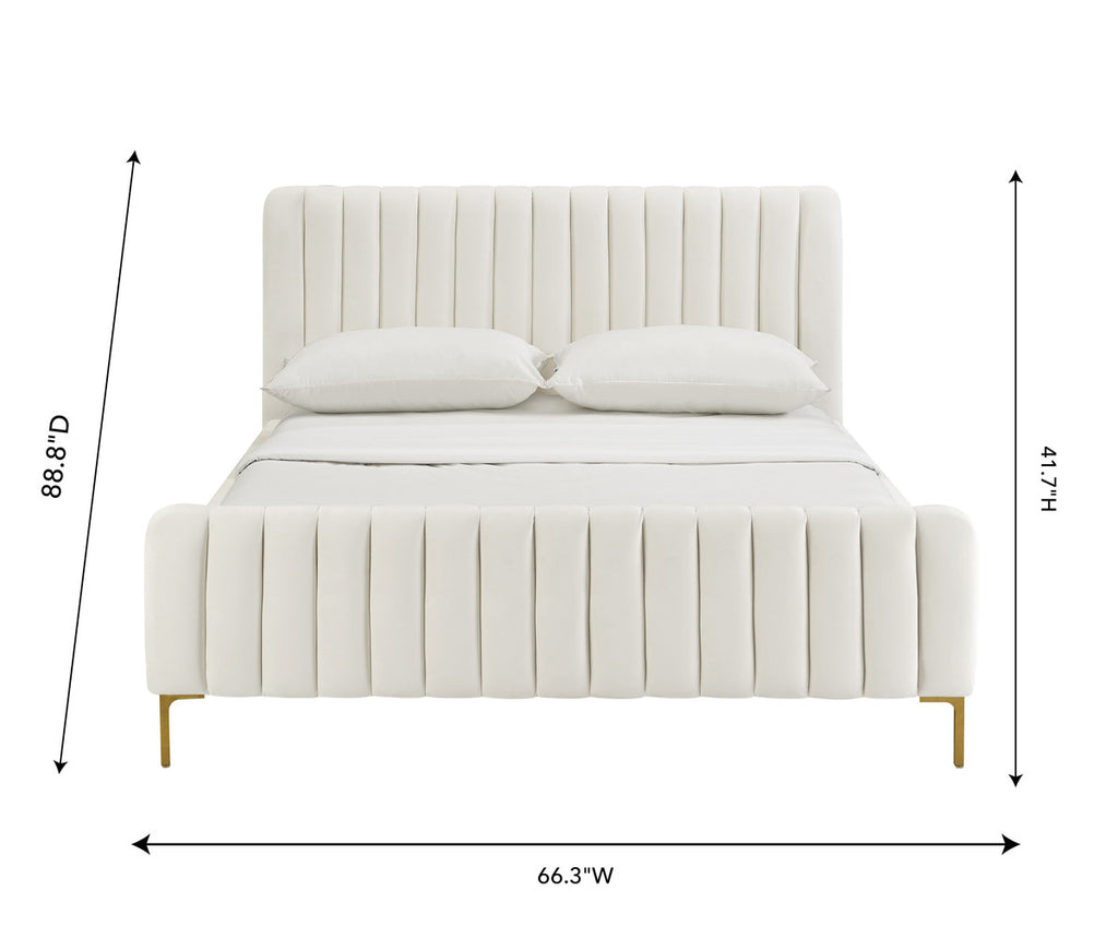 Angela Cream Bed in Queen