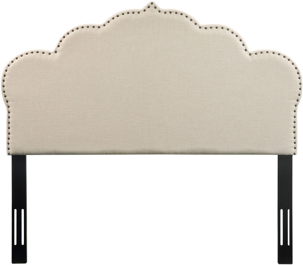 Noches Queen Headboard in Beige Linen