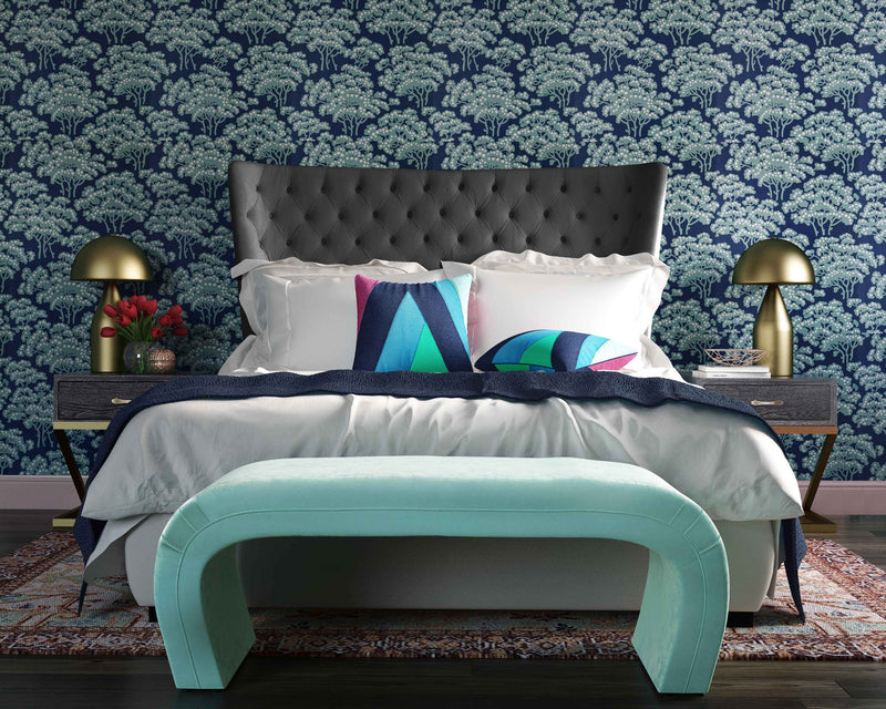 Sassy Grey Velvet Queen Bed