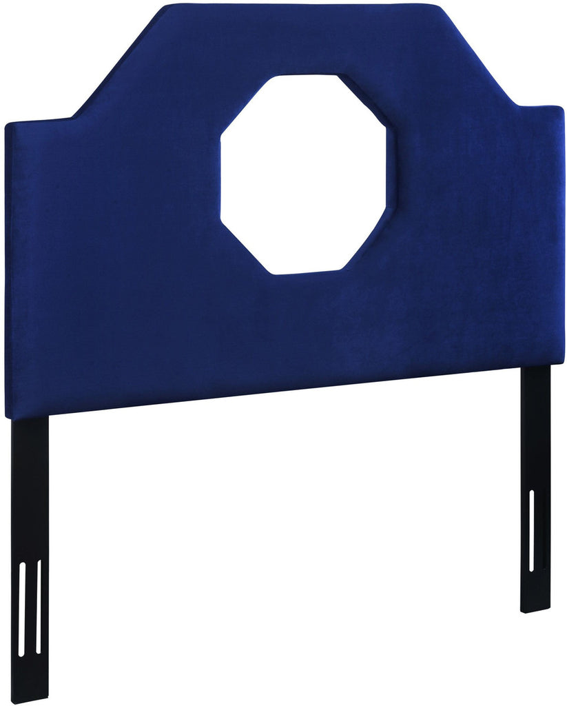 Noctis Twin Headboard in Navy Velvet