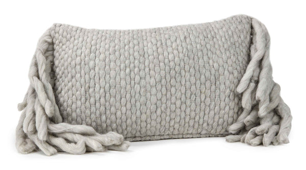 Afrino Wool Grey Pillow