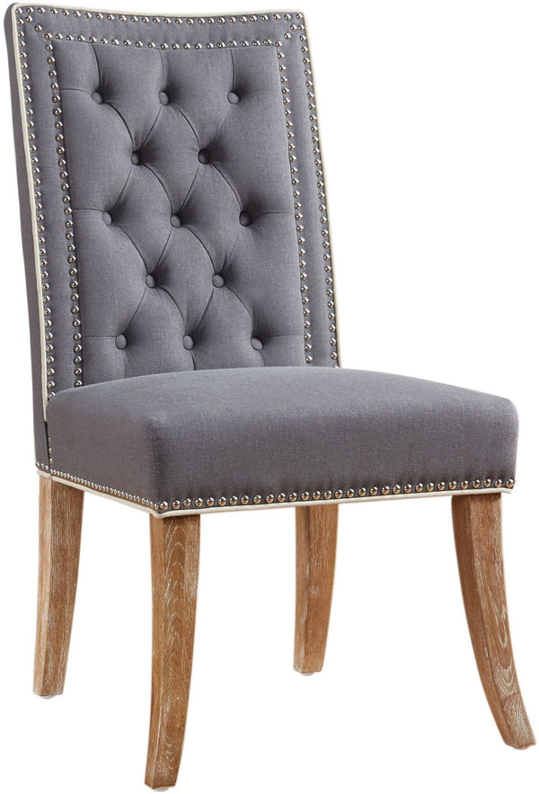 Garrett Grey Linen Dining Chair