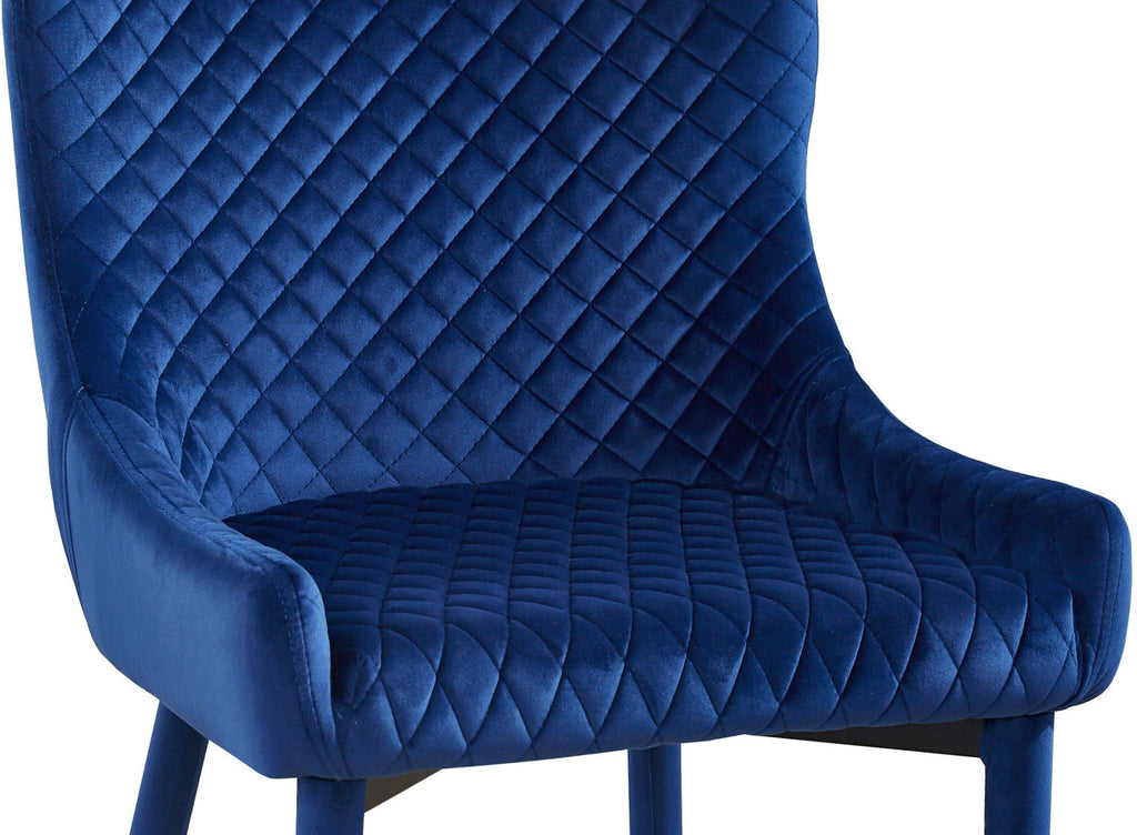 Draco Navy Velvet Dining Chair