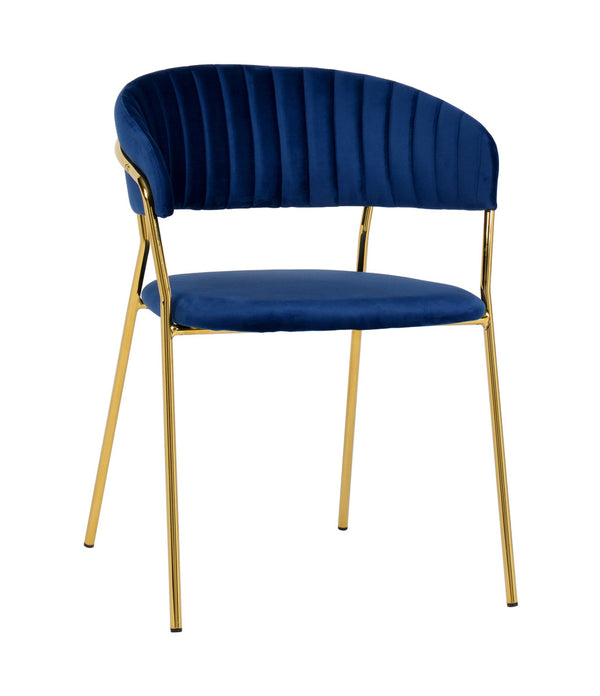 Padma Navy Velvet Dining Chair (Set of 2)