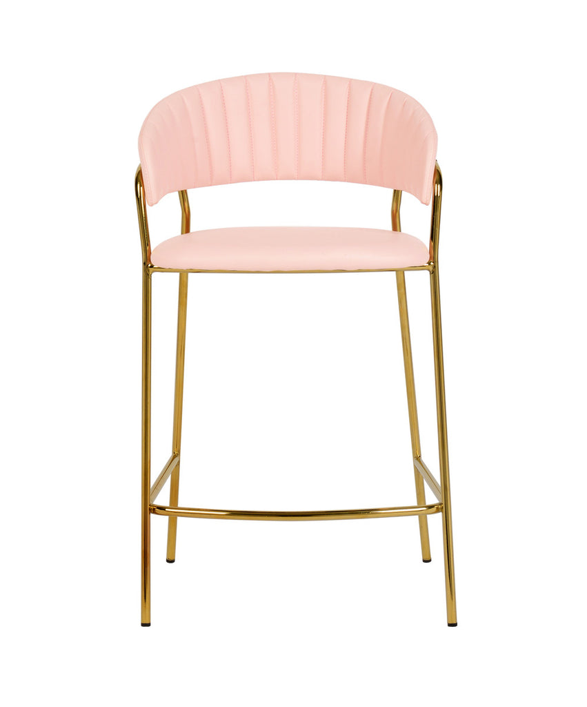 Padma Blush Vegan Leather Counter Stool (Set of 2)